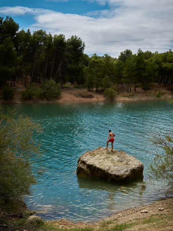 Rock Jumping In Andalucia